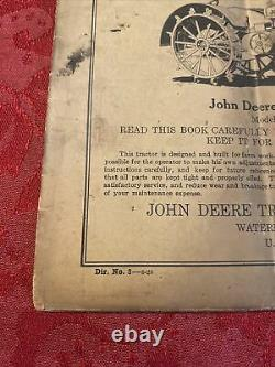 1928 Early John Deere Antique Tractor Parts And Instruction Catalog