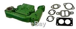 2 pc Intake & Exhaust Manifold with Gaskets For John Deere Tractor Model 50