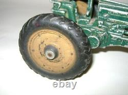 Antique Arcade Toys John Deere Model A Green Tractor 6.00-16 for Parts or Repair