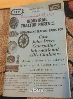 Antique Vtg TRACTOR CATALOG INDUSTRIAL TRACTOR PARTS Caterpillar JOHN DEERE