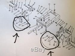 Draft Link Transport Locks for John Deere 520-730 Tractor