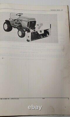 Genuine oem JOHN DEERE LAWN GARDEN TRACTOR 49 SNOW THROWER PARTS CATALOG PC-1080