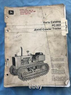 JD John Deere Parts Catalog PC-922 JD450 Crawler Tractor 212 Pages Manual Book