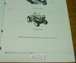 JOHN DEERE 200 210 212 214 LAWN GARDEN TRACTOR PARTS CATALOG PC-1473 Advertising