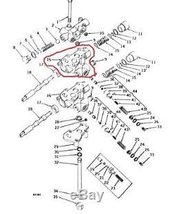 JOHN DEERE M3331T HOUSING, HYDRAULIC CONTROL 420, 430 Crawlers