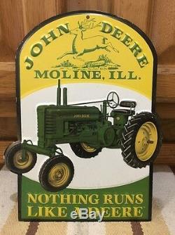 JOHN DEERE Tractor Metal Farm Equipment Vintage Style Morine Implements Tractors
