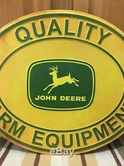 JOHN DEERE Tractor Metal Quality Farm Equipment Signs Implements Tractors