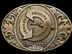 Je31154 Vintage 1994 John Deere Parts Expo Brasstone Tractor Belt Buckle