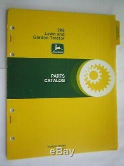 John Deere 208 Lawn & Garden Tractor Parts Catalog Manual