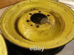 John Deere A G Unstyled Styled Front Wheel Rims JD1232R