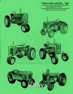 John Deere All Model 60 Tractor Parts Manual Catalog JD