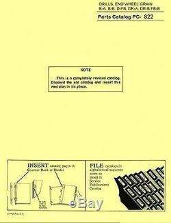 John Deere B-A B-B DF-B DR-A DR-B FB-B Wheel Grain Drill Parts Manual Catalog JD