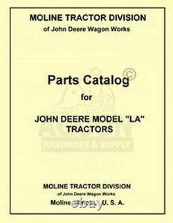 John Deere LA Tractor Parts Manual Catalog JD 1941-1946