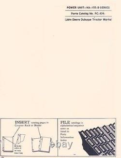 John Deere Model HA-155-D Series Power Unit Parts Manual Catalog JD 624
