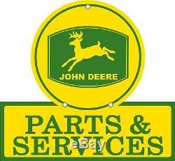 John Deere Parts & Services Tractor Man Cave Reproduction Aluminum Sign 16x18