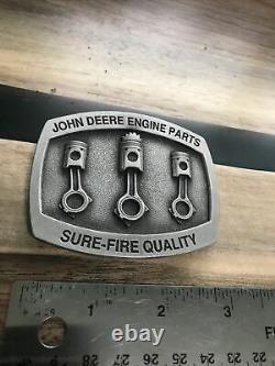 John Deere Tractor Engine Parts Agriculture Vintage Belt Buckle Farm