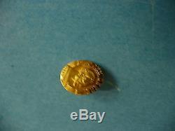 La- Vintage John Deere 20 Years 10k Gold Top Pin Back Pin (#16125)