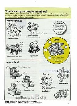 New Carburetor John Deere A AH AI AN AO AR AW AWH Tractor DLTX 18 19 24 33 71 72