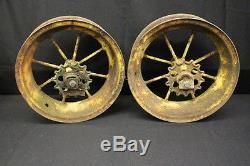 Pair of Antique John Deere Spoke Wagon Rims JB 2688B