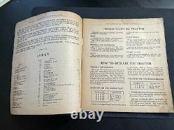 Vintage 1930s John Deere Model BR & BO TRACTOR INSTRUCTION MANUAL & PARTS LIST