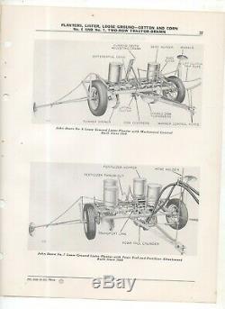 Vintage John Deere Parts Catalog Planter 2-Row Tractor #6 & #7 Corn Cotton