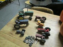 Vintage die cast toy Farm Tractor assortment, for parts repair or restoration