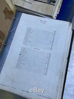 Vtg JOHN DEERE Ford Massey Ferguson MANUAL Lot Parts Catalog Mf 300 Combine Ford